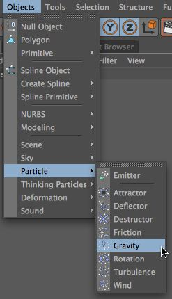 Add a Particle Gravity Object