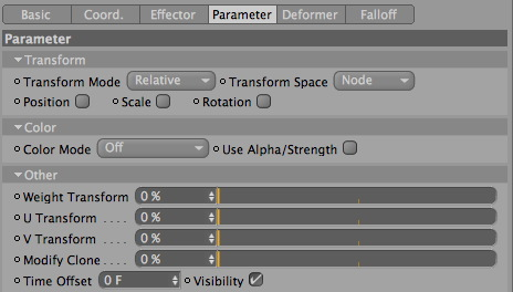Visibility Checkbox - Cinema 4D & Mograph Tutorial - Cloner Visibility through Effectors