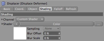 Displace Deformer Shading Tab