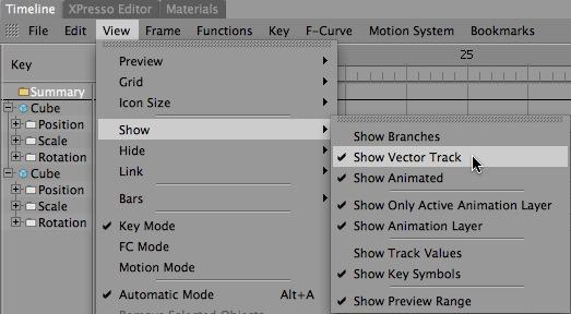 Show Vector Track Menu Item