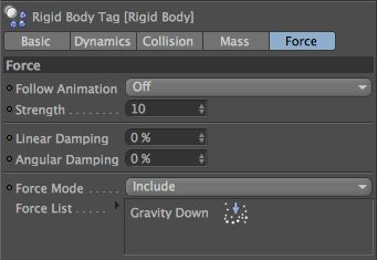 Drag to the Rigid Body include list