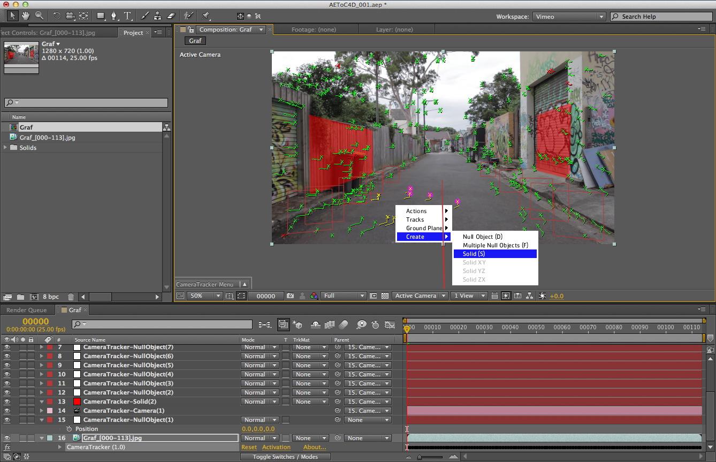 AE To C4D - Camera Tracker